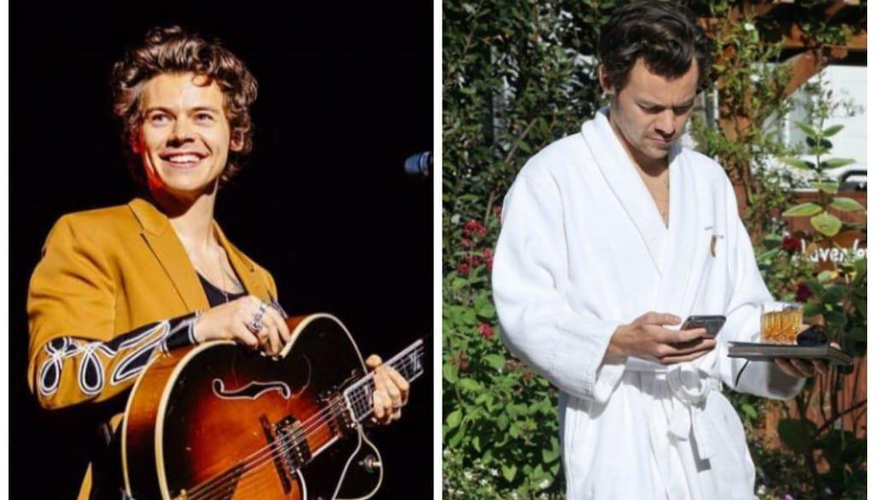 Harry Styles Was Seen Wearing A Hotel Bathrobe And Slippers At Manager Jeff S Wedding See Photo Netral News