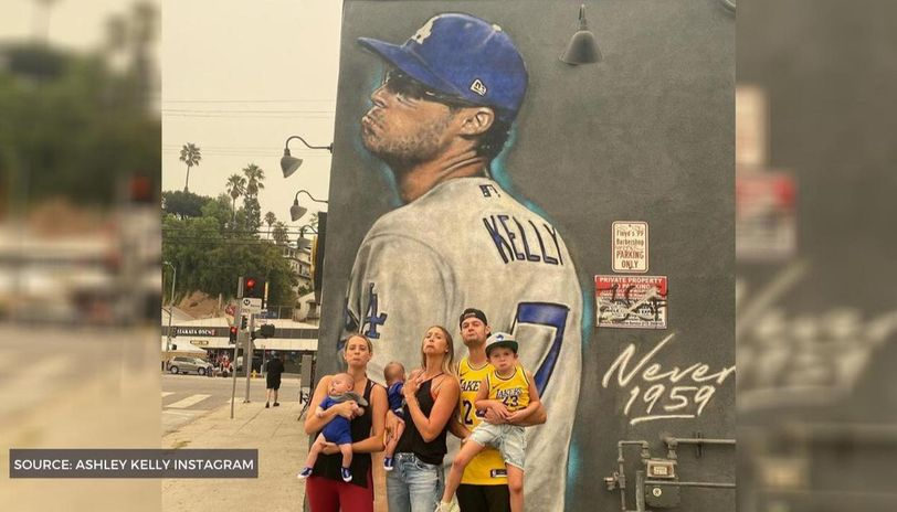 Joe Kelly Mocks Astros In Front Of His Pouty Face Los Angeles Mural