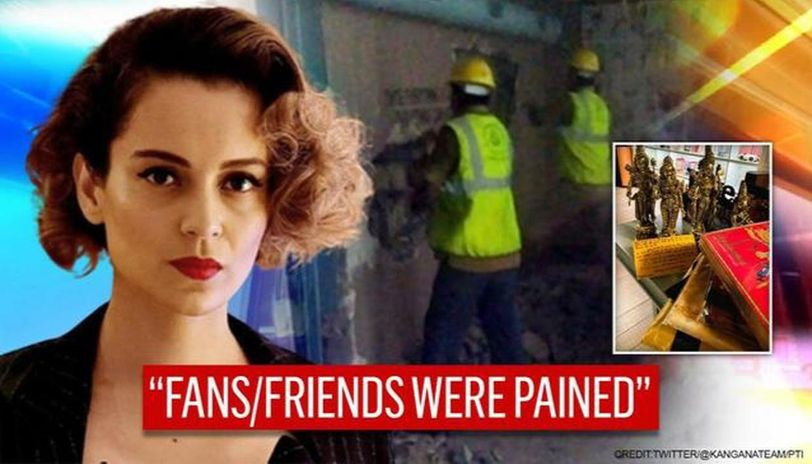 Kangana moved by fans' gift after demolition row, says, 'it'll enhance divinity of temple'