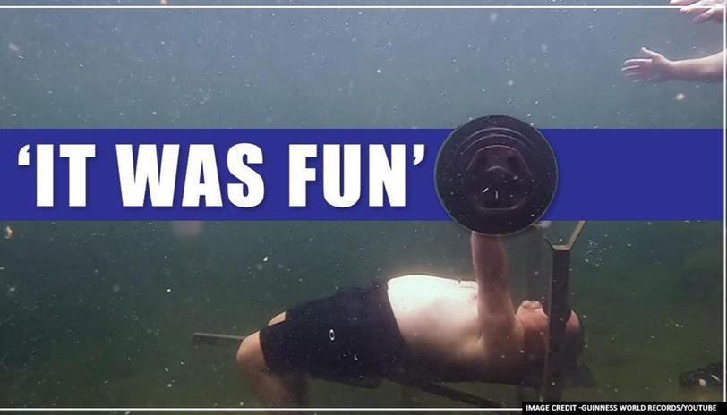 US man breaks Guinness World record for most bench presses underwater