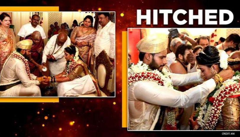 Former Karnataka CM HD Kumaraswamy's son Nikhil ties the knot with Revathy, see pictures