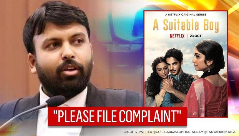 'Boycott Netflix' trends over 'A Suitable Boy' scene, BJP's Gaurav Goel seeks FIR