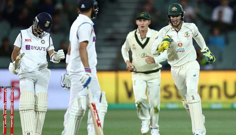 Pink Ball Test Australia Restrict India To 233 6 After Virat Kohli S Run Out