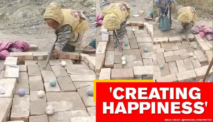 'Innovative' kids create billiards table with bricks and stones. Watch