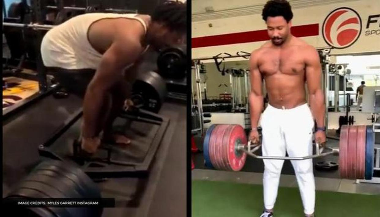 Myles Garrett Showcases His Strength With An Impressive 655 Lbs Deadlift During Workout Republic World