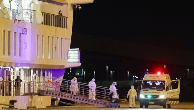 Coronavirus: Australian cruise ship docks at Montevideo port, patients to be sent back