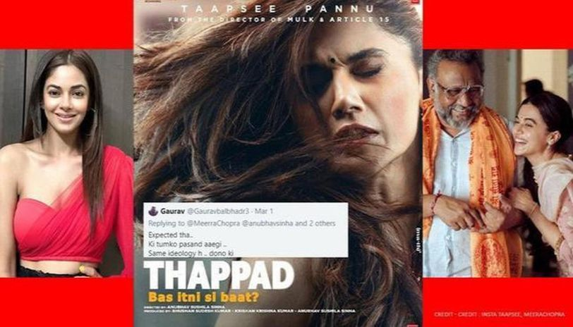 'Thappad': Meera Chopra reacts after she's told 'you liked as you follow their ideology'