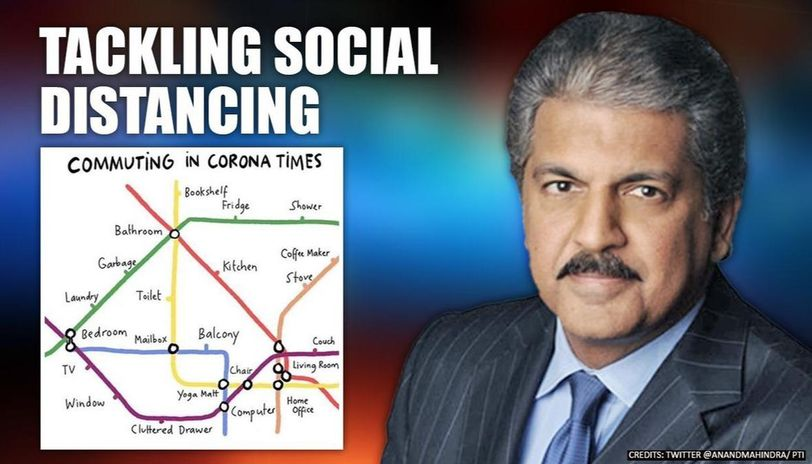 Anand Mahindra is giving metro style names to parts of his home amid COVID-19 lockdown