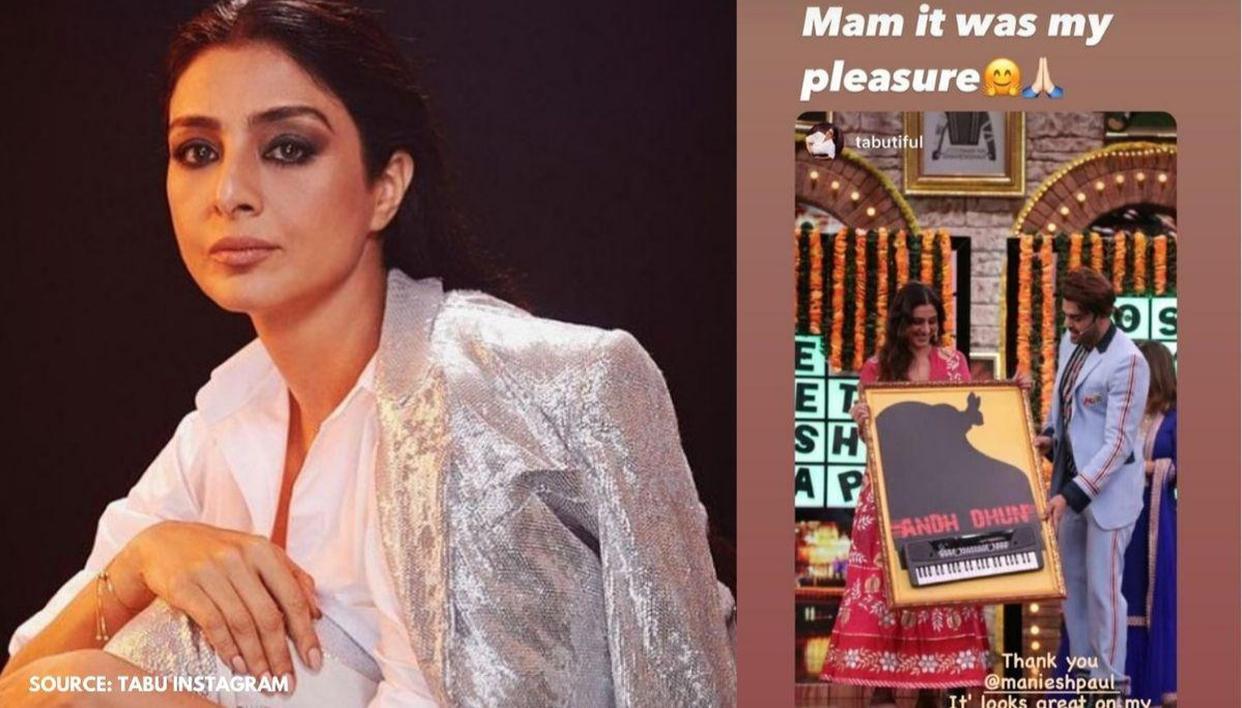 Tabu flaunts Maniesh Paul's gift on her wall, expressesgratitude