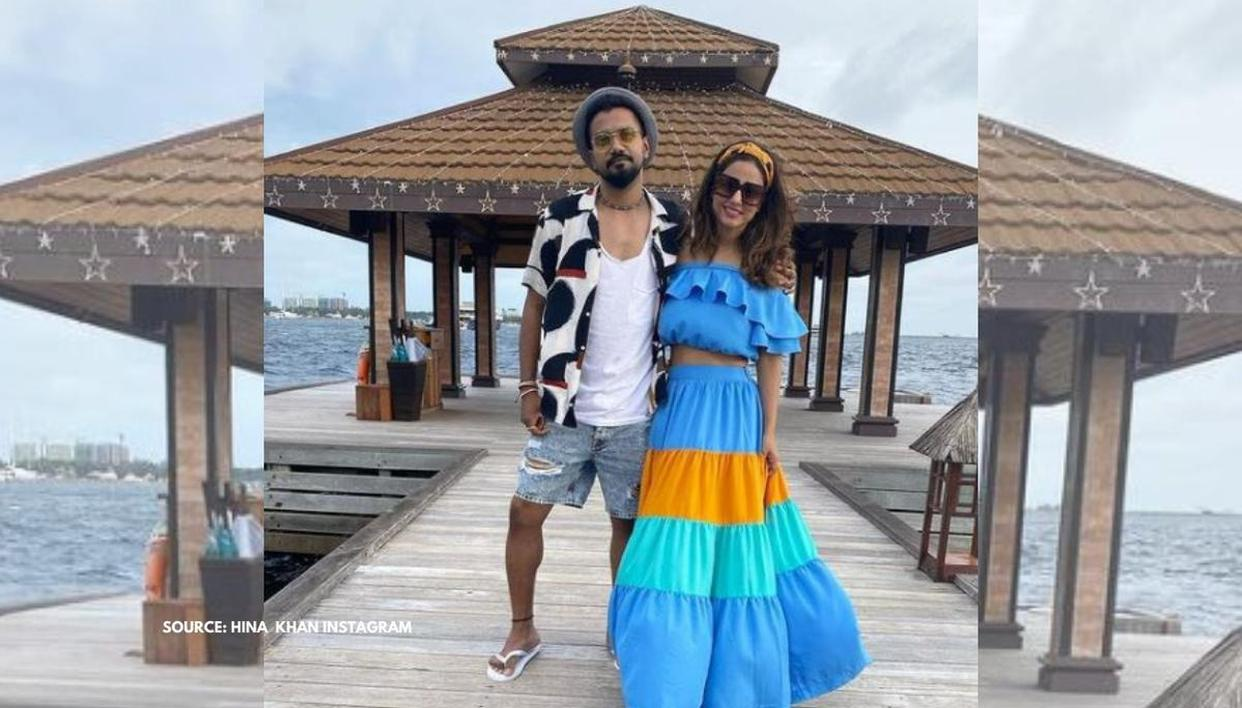 Hina Khan and Rocky Jaiswal's exotic Maldives vacation photos will drive away your blues