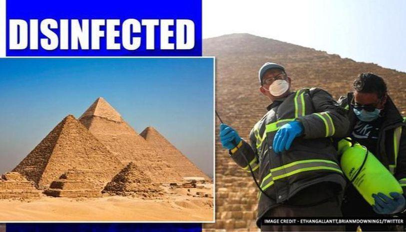 Coronavirus: Egyptian Pyramids fumigated to prevent spread of COVID-19