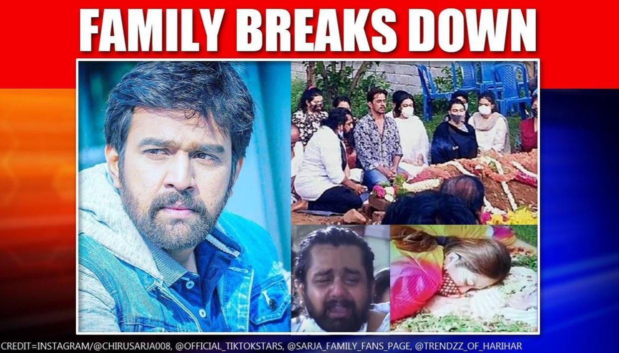 Chiranjeevi Sarja S Funeral Wife Meghana Arjun Dhruva Bid Emotional Adieu Republic World