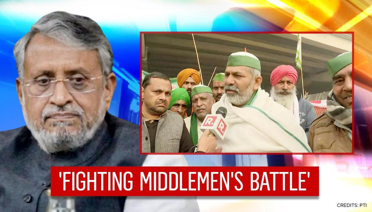 'It appears that farmer leaders are waging the final battle for middlemen': Sushil Modi