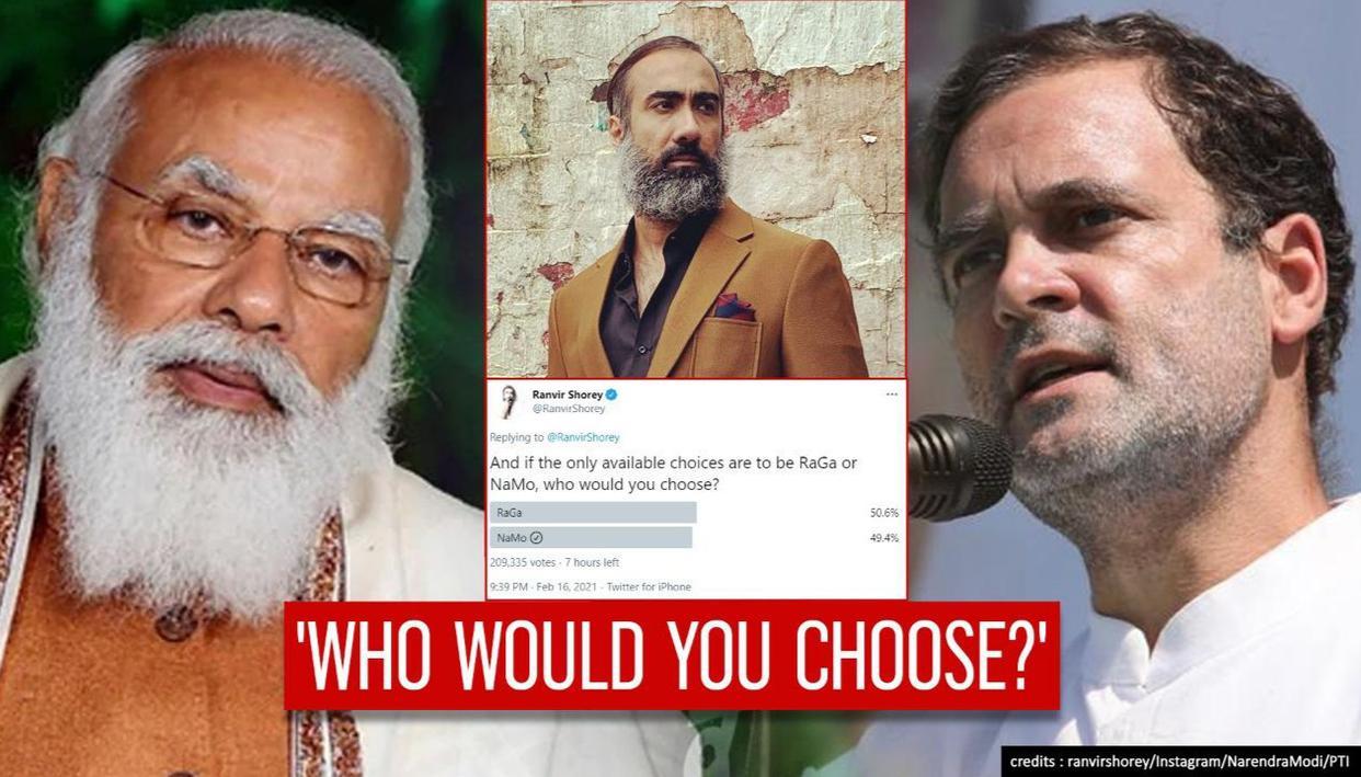 Ranvir Shoreys NaMo or RaGa poll neck-&-neck; actor feeling like Election Commission - Republic TV