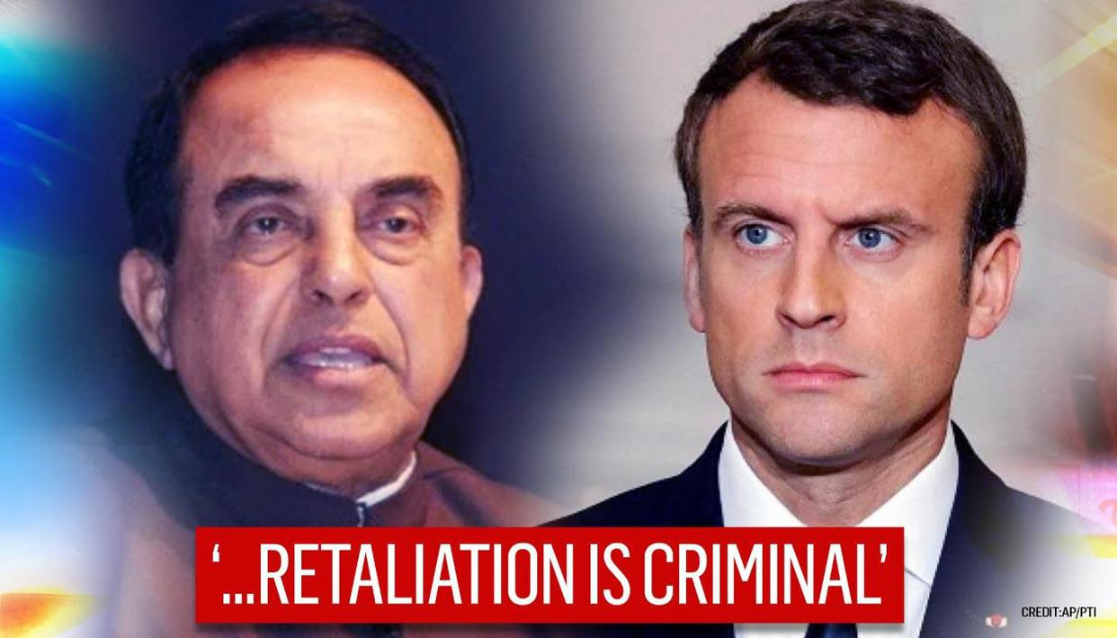 Subramanian Swamy enters Macron row; opposes 'despicable' caricatures; condemns terror