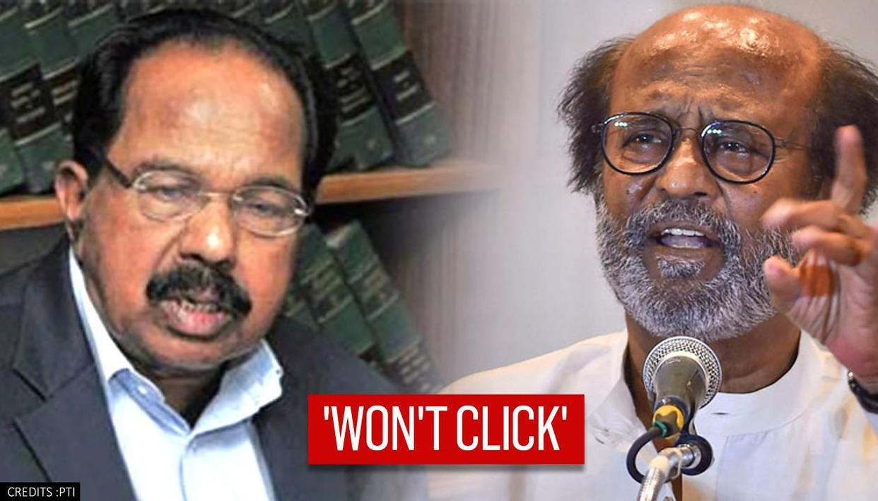 Congress' Moily hits out at Rajinikanth, says 'his politics won't click' in Tamil Nadu