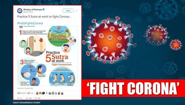 Ministry Of Railways Shares '5 Sutra To Practice At Work' To Fight  Coronavirus