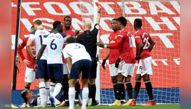 Maguire And Rashford Argue Over Lamela Not Being Sent Off During Man United Vs Tottenham