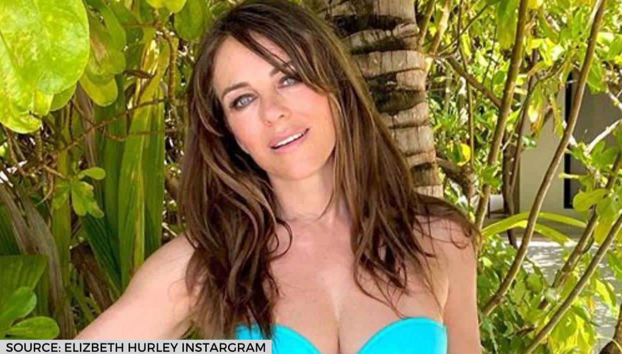 Elizabeth Hurley aces home photoshoot in stunning blue bikini; see pic - Republic World