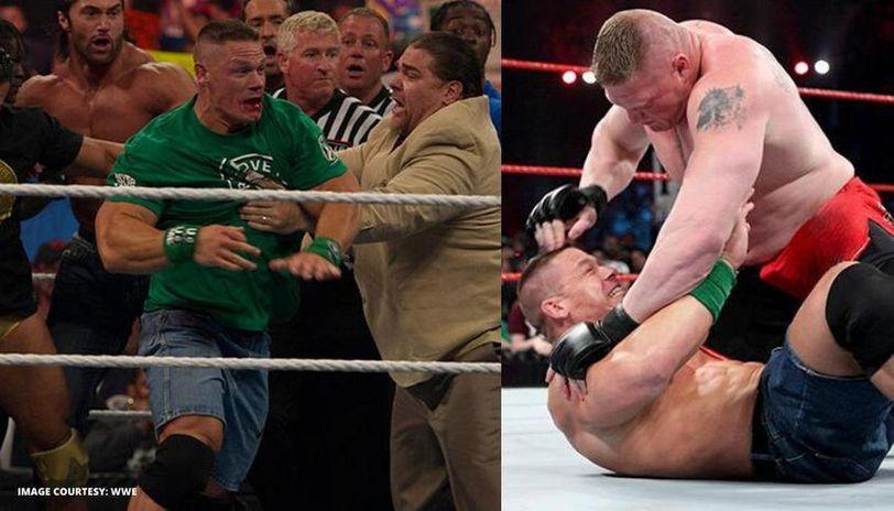 Brock Lesnar and John Cena