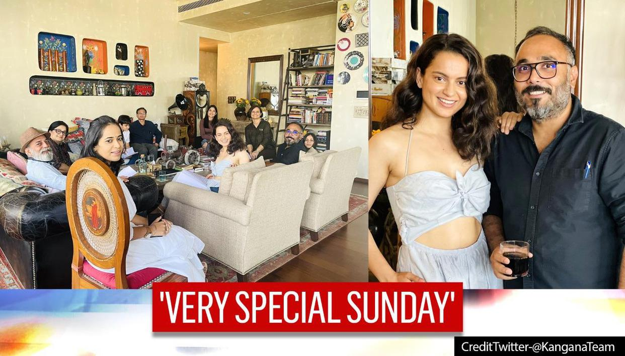 Kangana Ranaut conducts 'Tejas' script sessions at home, says 'loved hosting my new crew'
