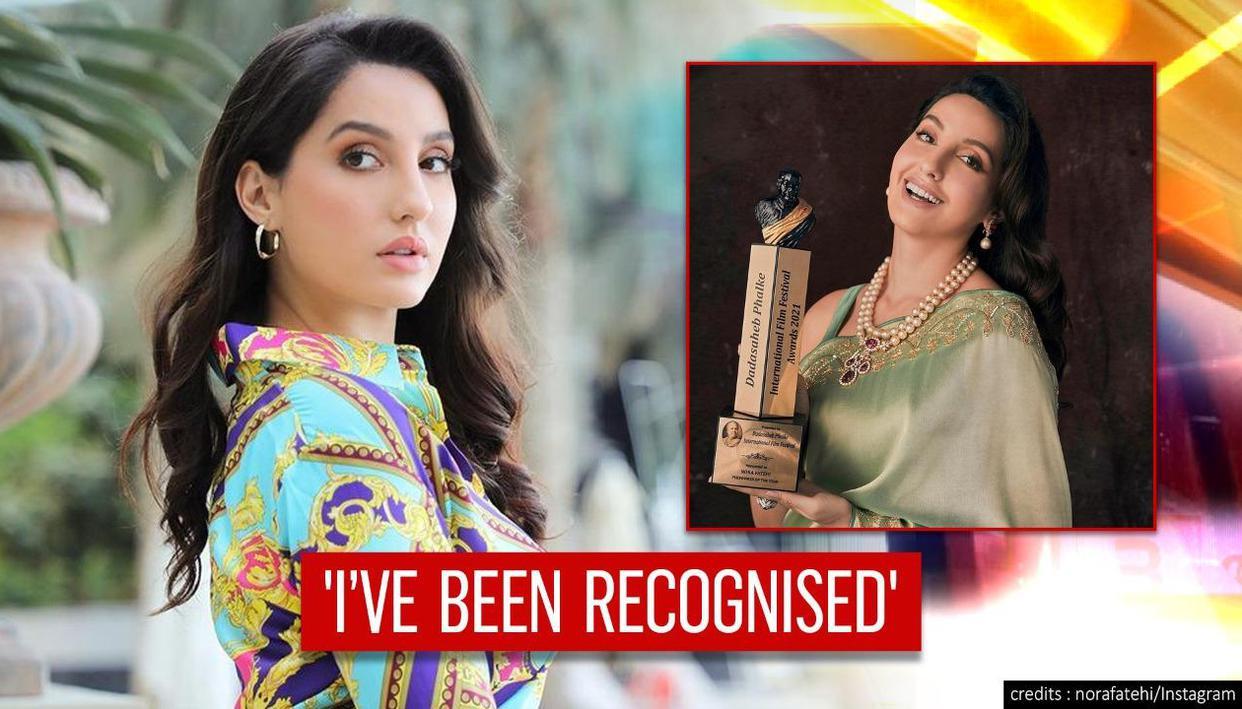 Injuries, bruises all worth it: Nora Fatehi after winning Dadasaheb Phalke Award - Republic TV