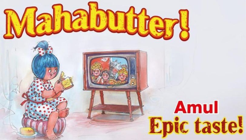Amul celebrates Mahabharat rerun with topical doodle as COVID-19 battle continues