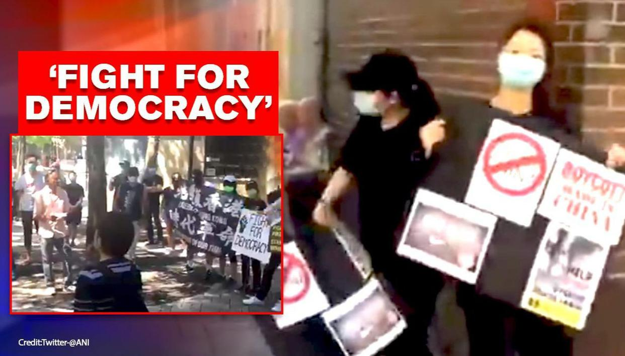 Canada witnesses anti-China protests organised by Hongkongers, Tibetans and others - Republic World