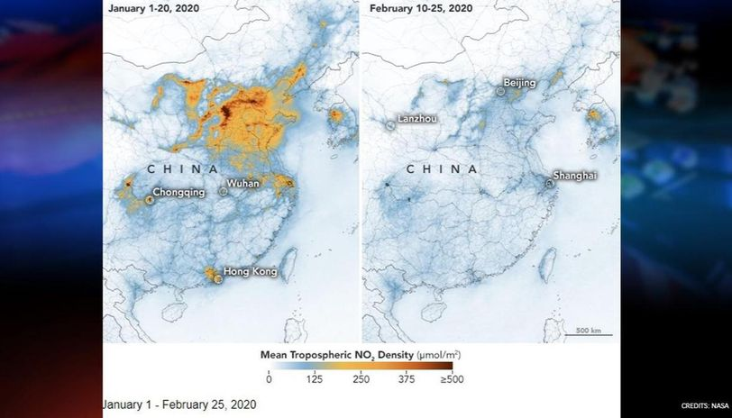 NASA releases images showing decline in pollution amid coronavirus outbreak