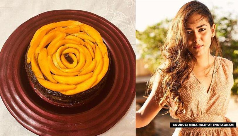 chocolate cake with mangoes