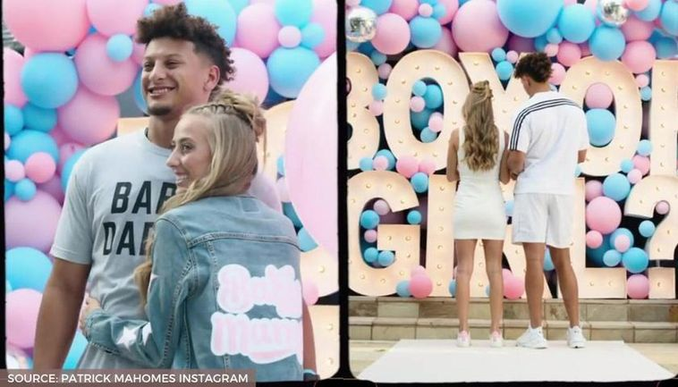 Patrick Mahomes and fiancée Brittany reveal their baby's ...