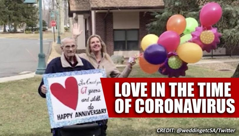 Coronavirus:  Man greets wife on wedding anniversary, winning hearts of netizens