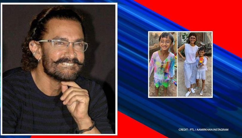 Holi: Aamir Khan conveys festive greetings with heartwarming pictures of Azad, Kiran Rao