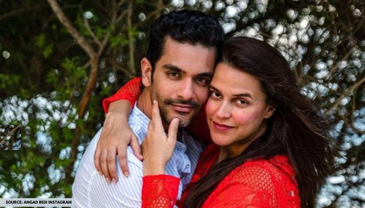 Neha Dhupia says husband Angad Bedi is a 'big trouble maker'; know why - Republic World