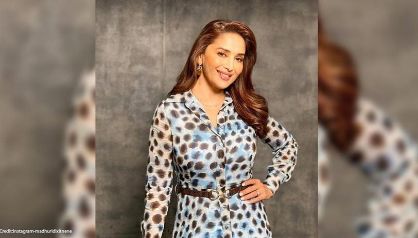 Madhuri Dixit starts #Myfavpartoftheday challenge on social media, shares picture with pet