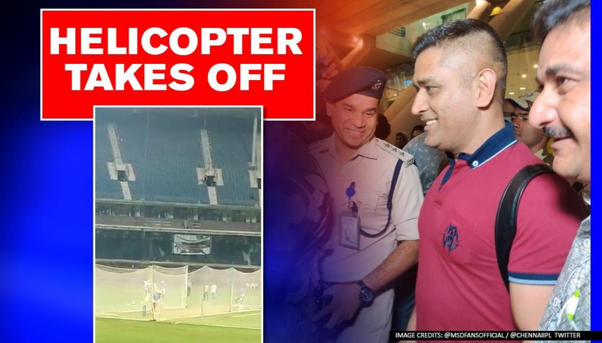 MS Dhoni Bats In The Nets, Receives Rousing Applause From Chennai Fans