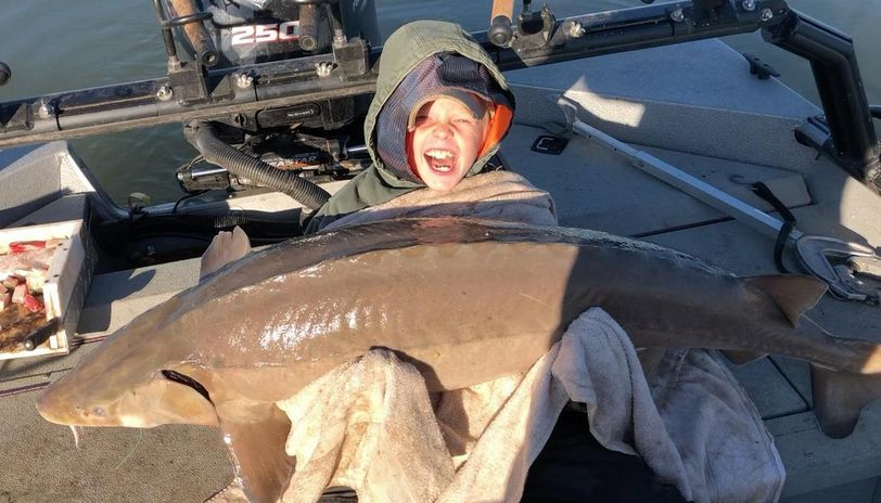 'Hooked this monster': 9-Year-Old boy catches fish nearly as big as himself