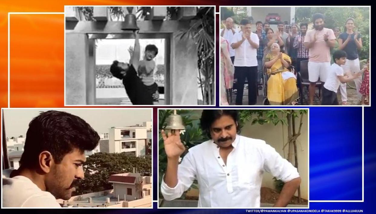 Ram Charan, Pawan Kalyan, Allu Arjun, JR NTRs rousing tribute to COVID-19 fighters, watch thumbnail