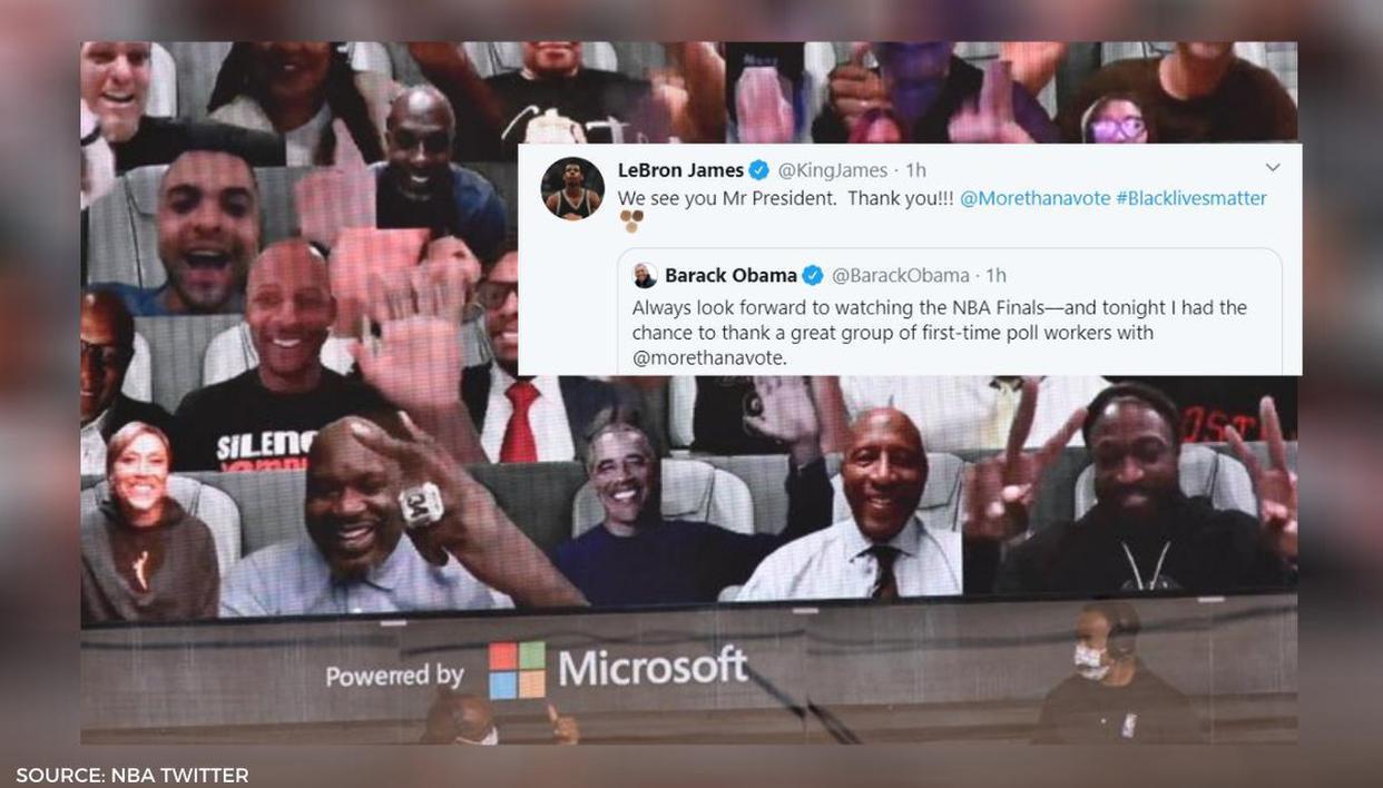 Lebron James Welcomes Mr President Barack Obama To Nba Finals Virtual Fan Section Republic World