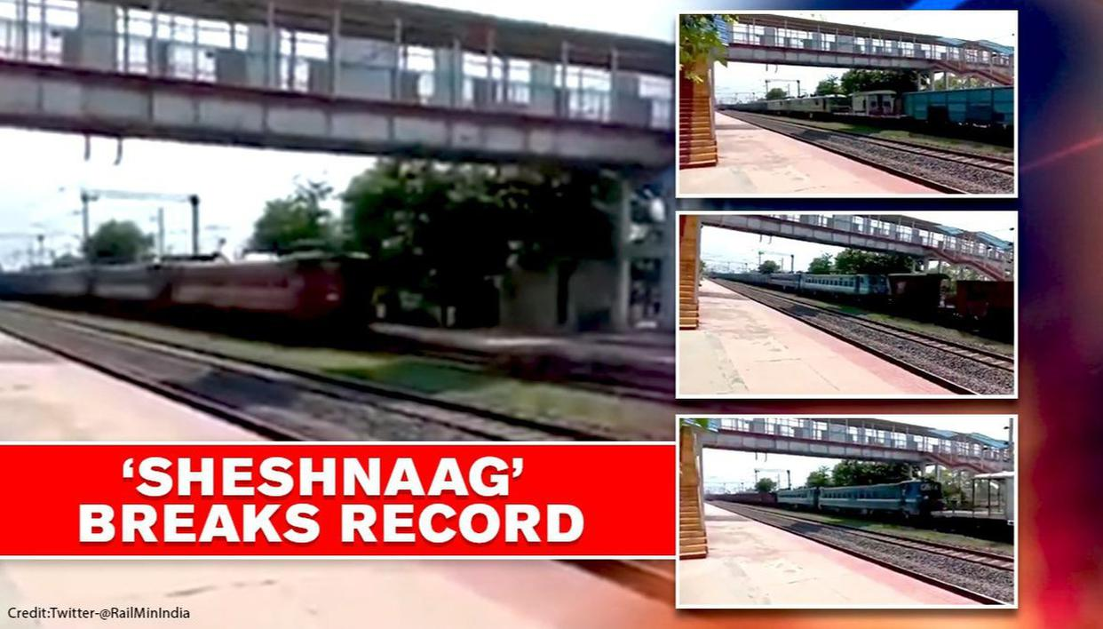 Indian Railways operates longest-ever train 'SheshNaag' with jawdropping length; WATCH - Republic World