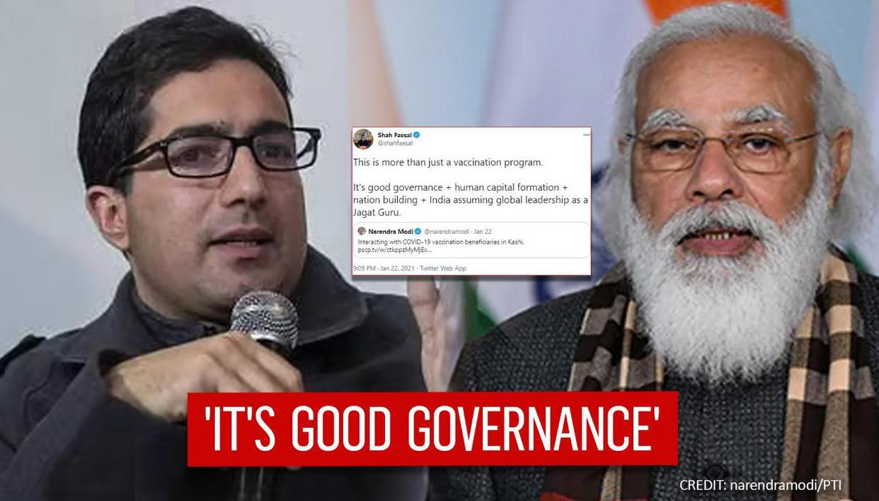 Shah Faesal breaks long silence, praises India's COVID vaccination program under PM Modi