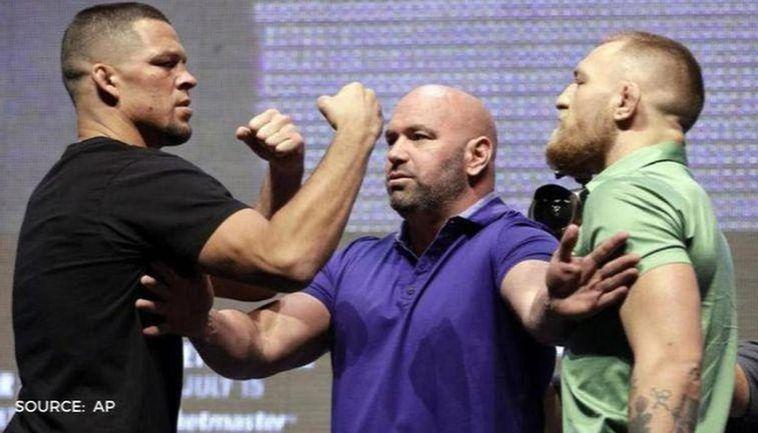 Conor McGregor vs Nate Diaz: UFC stars reignite rivalry by ...