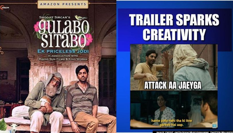 'Gulabo Sitabo' trailer: Big B-Ayushmann's quirks leads to memes galore within no time