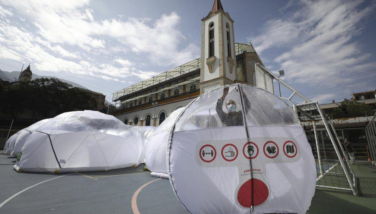 Colombia builds inflatable domes for coronavirus patients - Republic World