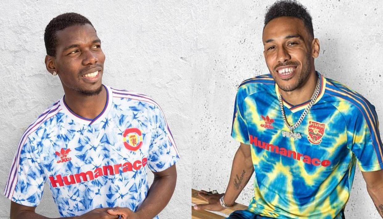 pogba aubameyang gnabry pose in pharrell williams reimagined adidas jerseys pogba aubameyang gnabry pose in