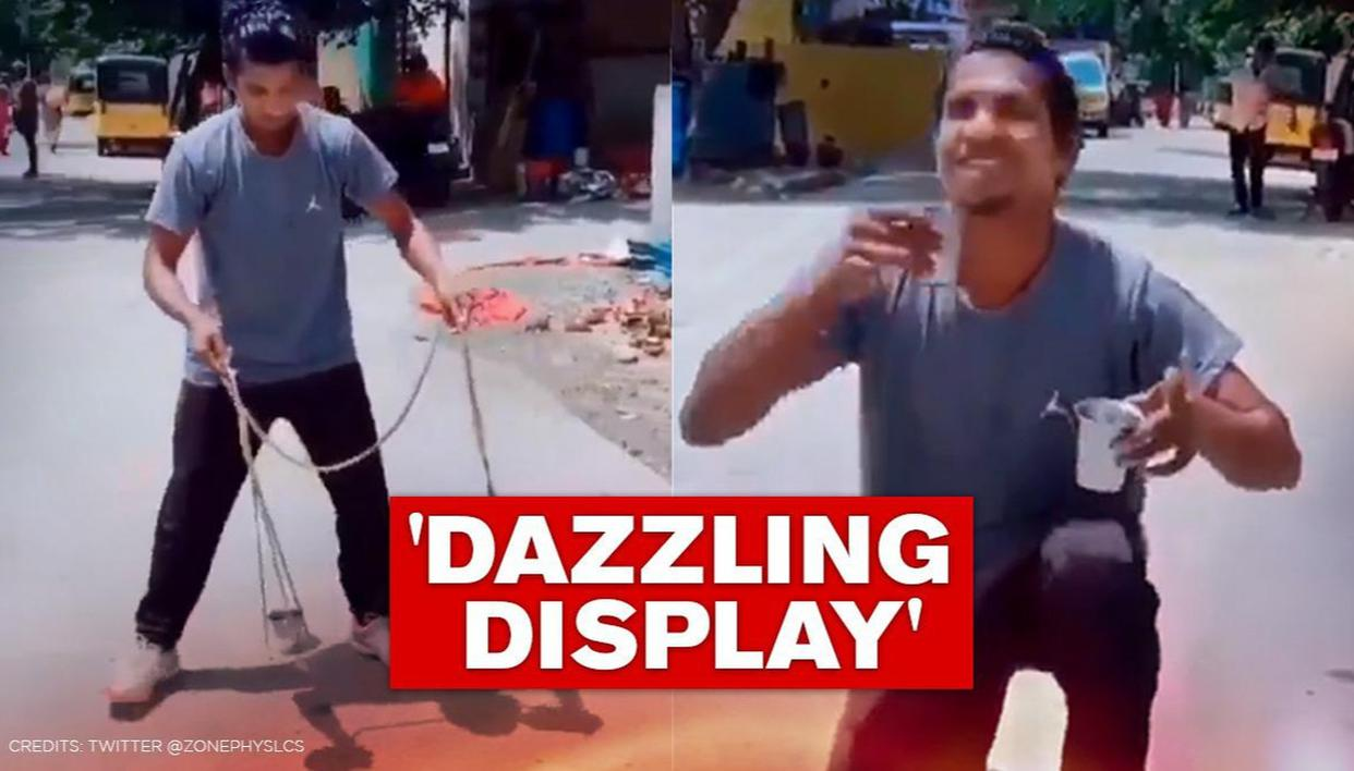 Video: Man swings glasses of water without spilling a drop, netizens say 'amazing India' - Republic World