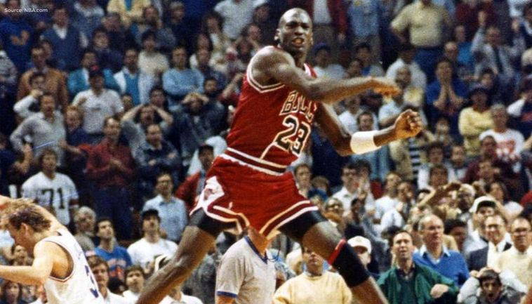 Sinis canal calor  Michael Jordan scores famous 'The Shot' over Craig Ehlo on May 7, 1989;  watch video