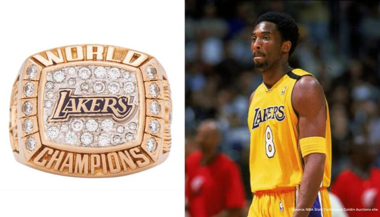 Kobe Bryant's 14-karat Championship ring gifted to his mother gets sold for $206,000 - Republic World