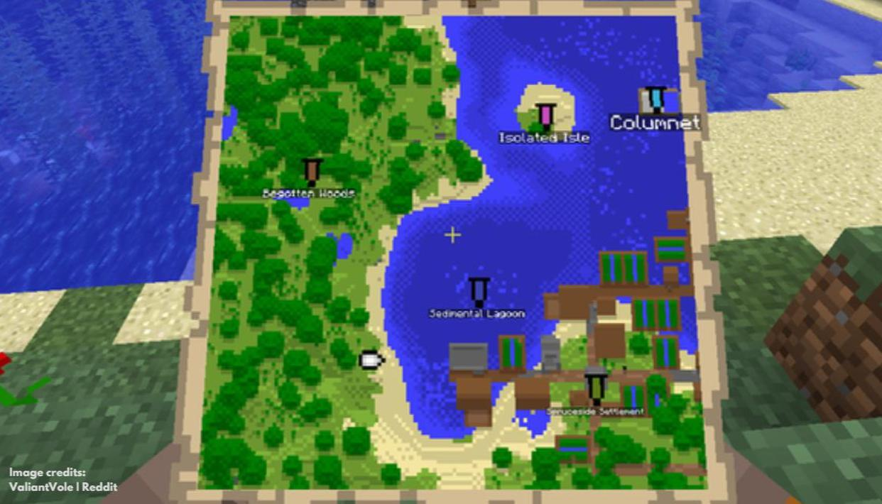 How to make a Map in Minecraft and transform it into a map item?