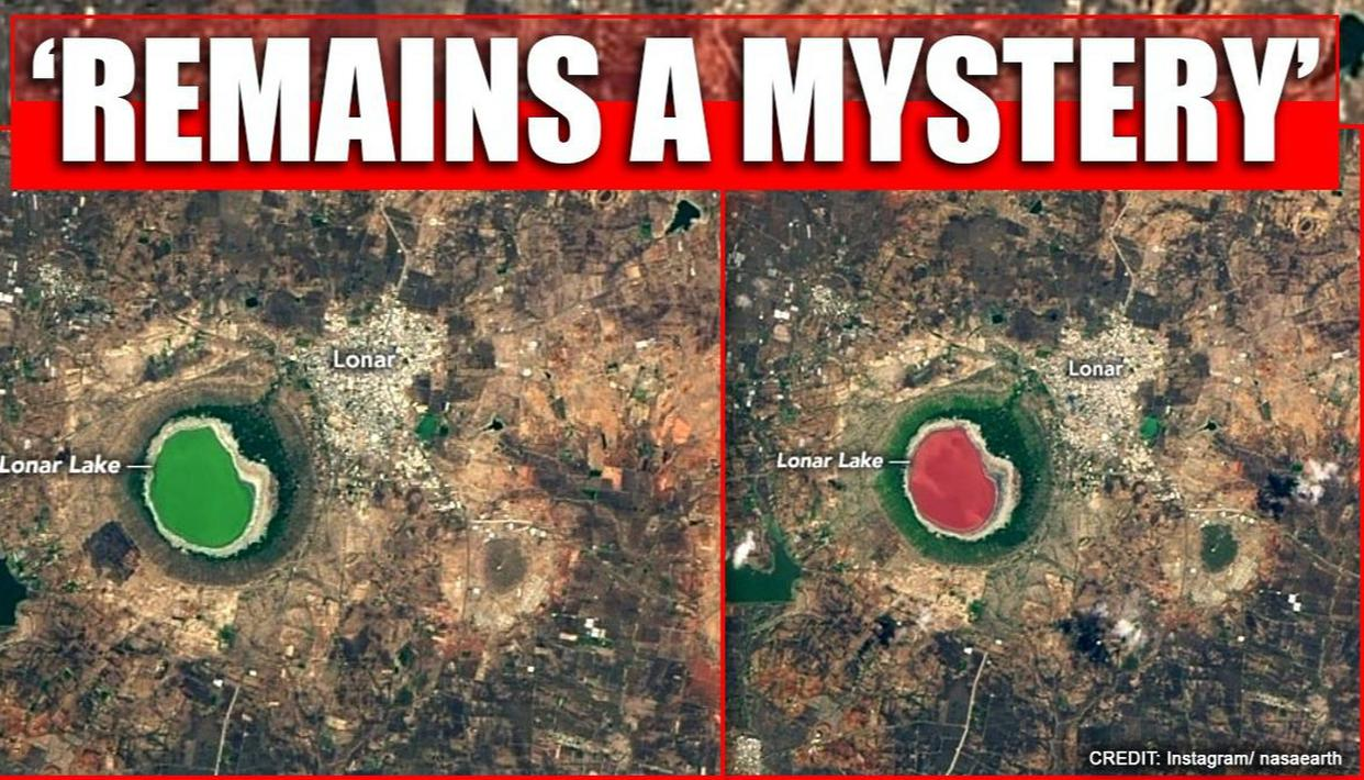 NASA shares pics of Lonar Lake's color change from green to pink, reason 'remains mystery'